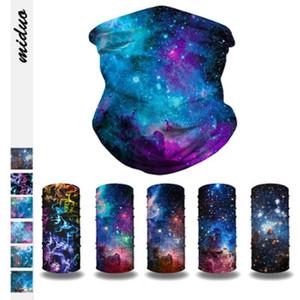 Cielo Cinta de cabeza estrellada deporte al aire libre de múltiples funciones de impresión del pañuelo de la cara Hairband bufanda ligera y transpirable bufanda mágicos suaves Pañuelos Sombreros