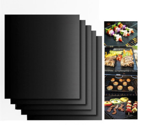 8pcs Non-stick BBQ Grill Mat Barbecue Baking Liners Reusable Teflon Cooking Sheets 40 * 30cm Cooking Tool