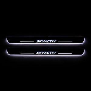 Para Mazda 6 Skyactiv 2013-2020 acrílico Movimiento Bienvenido LED del coche del pedal placa del desgaste del travesaño de la puerta del pedal Camino Luz