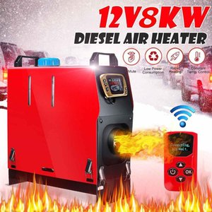 Hcalory All In One Diesel Air Heater Host 8KW Adjustable 12V 1 Hole LCD English Remote Control Integrated Parking Heater Machine