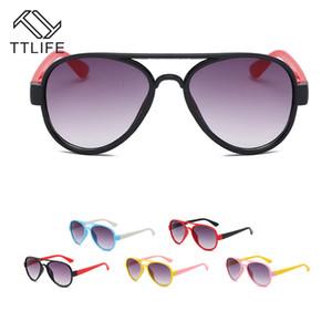 TTLIFE Moda Meninos ÓCULOS DE CRIANÇA Piolt Estilo Crianças Sun Glasses Brand Design 99% Proteção UV Óculos Oculos Óculos Cat Eye
