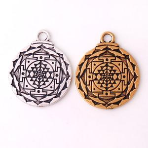 HY134 Inde mode fleur forme religieux amulette pendentifs wsealth païen talisman lotus pendentif charme bijoux en gros