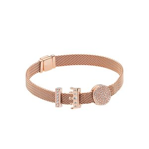 925 argent sterling rose reflet logo reflet charme clip clip couronne Pour bracelet eternalcharm style Pandora
