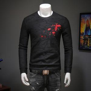 KOLMAKOV New Men' Clothing Men's Black Printed Sweatershirt Fleece Liner Pullovers Mens Spring Hoody M-4XL Men Shirts05