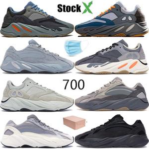 Мужская баскетбольная обувь Teal Carbon hospital blue Wave Runner 700 OG Kanye West дизайнерская обувь мужская женская Магнит инерция vanta кроссовки 36-46
