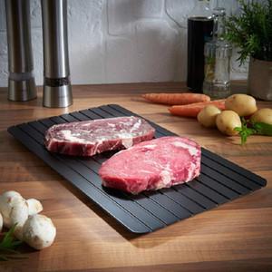 Plate pratique Metal Magic rapide Décongeler Plateau Safe rapide Dégel viande congelée place Aluminium Mat Defrost outil de cuisine A029