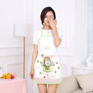 simple al por mayor femenina delantal y el trabajo de impresión de frutas linda cocina casera impermeable y a prueba de aceite de adulto bata femenina delantal