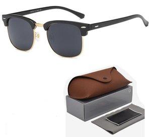 Marke Halbrahmen Sonnenbrille polarisierte Sonnenbrille für Männer Frauen Sonnenbrille Markendesigner Halbrand Rahmen UV400 Objektiv