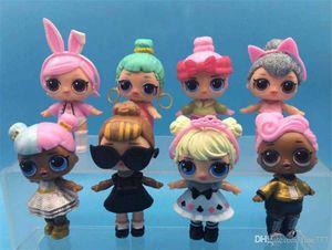 8 шт. / Лот LOL кукла игрушка настольные украшения пвх фигурку кукла игрушка девушка украшения одеваться кукла