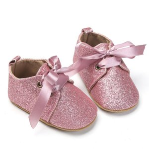Imcute Infant Toddler Glitter Soft Shoes Baby Boy Girl Bow Gold silver Leopard Shoes Prewalker 0-18 Months