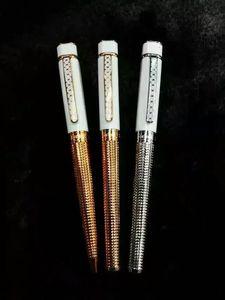 Frete grátis - Cópia Korloff Pen quadrado branco de cerâmica rosegolden Roller Ball Pen Luxo Pen - No Box