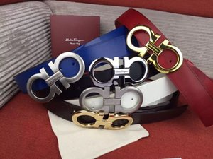 2019 TOP8 Big large buckle genuine leather belt with box designer belts men women high quality new mens belts luxury belt free shipping