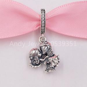 Authentisches 925 Sterlingsilber-Korn-Paar-baumeln Charme-Charme passt Europäische Pandora Style Schmuck Armbänder Halskette 798896C01