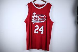 Los cuadros verdaderos # 24 Marvin Barnes Spirits of St. Louis Jersey retro de baloncesto para hombre cosido Número Nombre jerseys