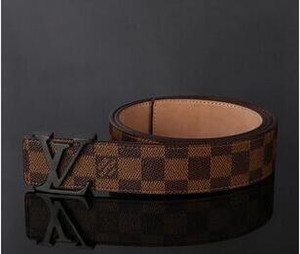 Com Box Top Quality Genuine Couro Marca Ladies Belt Buckle Carta Desinger Belt Cintura 105-125cm