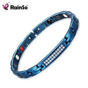 RainSo Zircon Bijoux en cristal santé Bracelets Bracelet thérapie magnétique pour femmes Bangles Bio Energy Hologram Bracelets