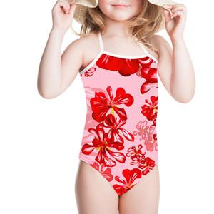2019 زهرة فتاة الأطفال ملابس السباحة طفل لطيف بيكيني ملابس السباحة ملابس السباحة مريحة