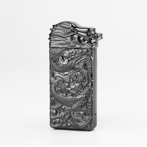 Новый красочный цинковый сплав USB слитки Дракон глава зарядки зажигалка инновационный дизайн циклической зарядки встряхнуть зажигания для сигарет курительная трубка