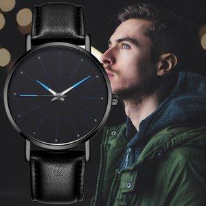 Neue eleganten klassischen Leder-Uhr-Marke Mann-Frau-Dame-Girl Unisex Art und Weise einfache Entwurfs-Quarz-Kleid-Armbanduhr