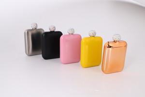 Edelstahl-Hüfte-Flasche bewegliches im Freien Flagon Whiskey Stoup Wein-Topf-Alkohol-Flaschen Mini-Runde Männer Taschen-Taschenflaschen