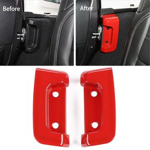 Rear Door Lock Inside Decorative Cover RED For Jeep Wrangler JL 2018 Factory Outlet High Quatlity Auto Internal Accessories