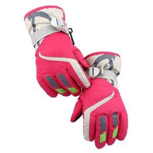 Children's Snow Ski Gloves Winter Thickening Plus Cashmere Cotton Warm Boy Girl Students Outdoor Sports Fitness Skiing Glove S17