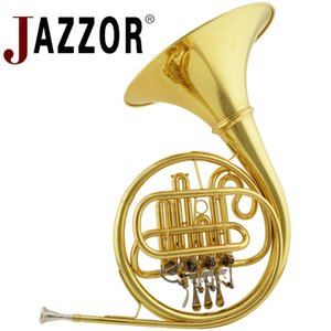 Profesional JAZZOR JBFH-700 French Horn B Flat Separado Cuerpo de latón de campana 4 llaves Bocina francesa modelo de entrada Instrumentos de laca de oro