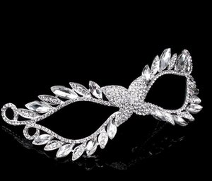 DHL Crystal Rhinestone mask Venetian Masquerade Masks women sexy nx eyemask wedding night party mask Christmas props gift 16*5.5cm