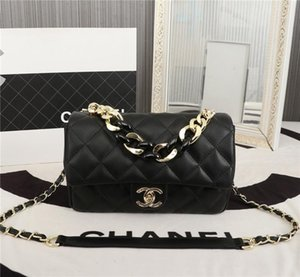 Hot Women Handbag Classic Calfskin Sheepskin Gold Metal Black Luxury Designer Black Lambskin Shoulder Bag Fashion Chain Party Bag