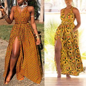 Abiti africani per le donne 2020 Fashion Long Maxi Dress Floral Print Bazin Vestidos Dashiki Party African Vestiti Africa Africaine