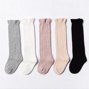 Kinder Fest Farbe trifft Baby-Hoch Schlauch Spitze-Baumwollbreathable Lace Socken Soft beiläufige Säuglingssocken 48