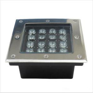 Luzes subterrâneas LED praça inground deck parede jardim caminho enterrado escada do chão da paisagem lâmpadas 3W / 4W / 5W / 6W / 9W / 12W / 16W / 24W / 36W