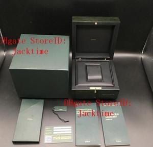 Imprimir cartão feito sob encomenda Modelo número de série correto Papers Marca Top verde original Woody Watch Box para AP Caixas Folhetos Relógios