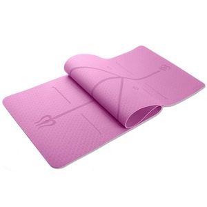 Antideslizante durable de rebote a prueba de agua Yoga Mat Sólido Inicio estera de la aptitud
