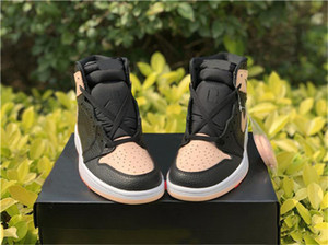 2019 Горячие продажи Высокая OG 1 Черный Багровый Оттенок Мужчины Баскетбол обувь Hyper Розовый Белый Черный 555088-081 Спортивная обувь кроссовки 7-13
