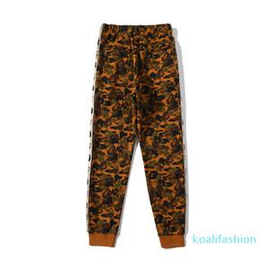 Nueva llegada del invierno del otoño de los hombres del desierto Camo Terry Causel Sportswear Pantalones amante del deporte Pantalones Pantalones Hip Hop