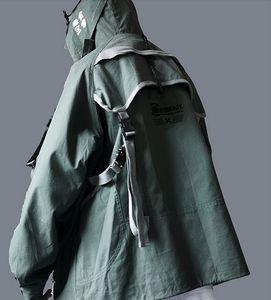 Sonbahar bahar koyu Mens Geri Kayış Uçuş askeri Ceket ma1 Hip Hop Aviator bombardıman Ceket Dış Giyim Streetwear Kargo Coat Erkek