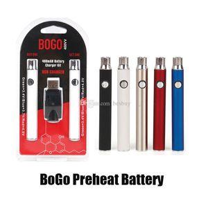 Nuovo BOGO LO preriscaldare VV Vape batteria 400mAh doppia penna USB caricabatterie Blister Pack Kit per CE3 510 filo spesso cartuccia di olio Serbatoio