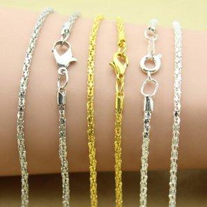 20pcs / Lot Chaînes Collier avec fermoir en or homard argent rhodié en vrac Chain Link Collier Accessoires bijoux bri Chaînes F1384