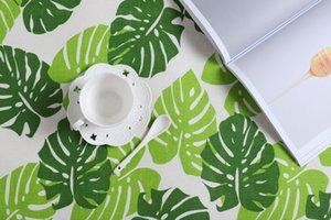 Impression Dîner tissu eau Uptake serviette de table en coton et lin Leaf Tea Party Serviette New 4 Fournitures 5SD C