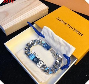 Brand Fashion Unisex Jewelry Stainless Luxury Steel Bracelets Bangles pulseiras Bracelets For Man and Women with Gift Box 011
