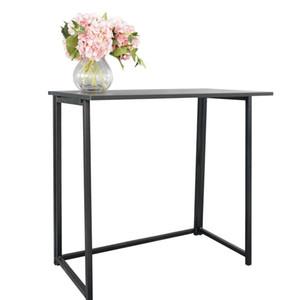 Практика Портативный Простой складной стол компьютера черный
