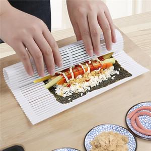 Sushi Roller riutilizzabile alga nori Cortina antiaderente fai da te Sushi Roller Maker plastica Sushi Mat rotolamento accessori da cucina