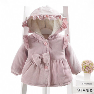 bebek kız kış kız 0-3 yıl parkalar için dış giyim kapüşonlu pamuk dolgulu giysiler artı sıcak ceket ceket yürümeye başlayan kalınlaştırmak kadife