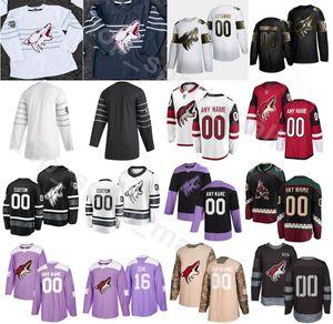 2020 Arizona Coyotes Eishockey 13 Vinnie Hinostroza Trikots Herren 67 Lawson Crouse 91 Taylor Hall 40 Michael Grabner Red White Custom Name