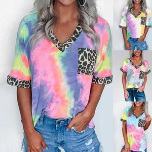 2020 Summer Sexy Women Tie Dye Print Short T Shirt Short Sleeve tshirt harajuku camiseta mujer tee shirt femme streetwear