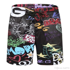 2020 ready for stock of new shorts printed quick dry men's drawstring shorts straight tube double casual five-minute pants hot style sp