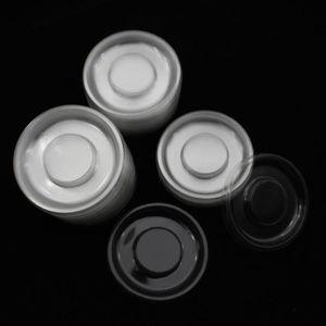 Wholesale 100pcs Cercle Clear Round Lash Plateaux Porte-blanc transparent Plateau en plastique pour l'emballage Boîte Cils Case Container
