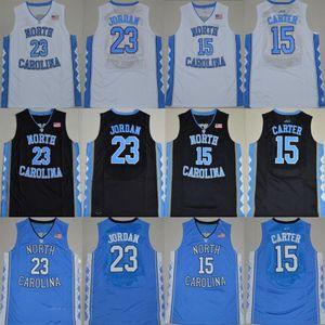 NCAA North Carolina Tar Heels 15 Carter 23 Michael College blue white cheap black Basketball Jerseys Stitched Logos jersey shirts