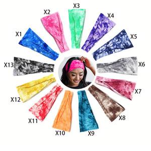 Kadınlar Kafa Tie boyama Sıcak Satış Spor Pamuk Ter Kafa bandı Kafa Bayanlar Spor Yoga Kafa bandı Gym Stretch Kafa Saç Bandı